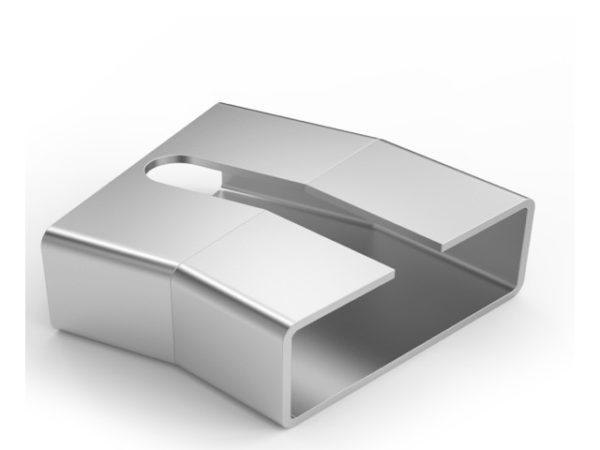 80×30 Ortadan Kanallı 45° Dirsek